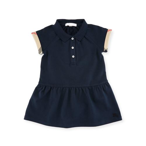 BURBERRY Cali Smocked Raglan Polo Dress, Size 2
