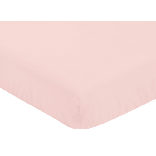 Sweet Jojo Designs Fitted Crib Sheet for the Amelia Collection by - Solid Pink