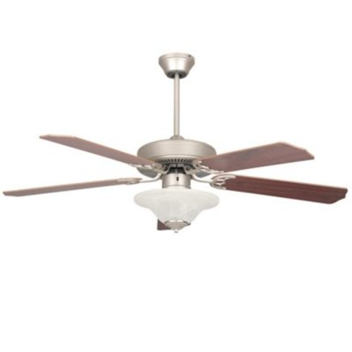 Concord Heritage Series 52-Inch 1-Light Ceiling Fan in Satin Nickel