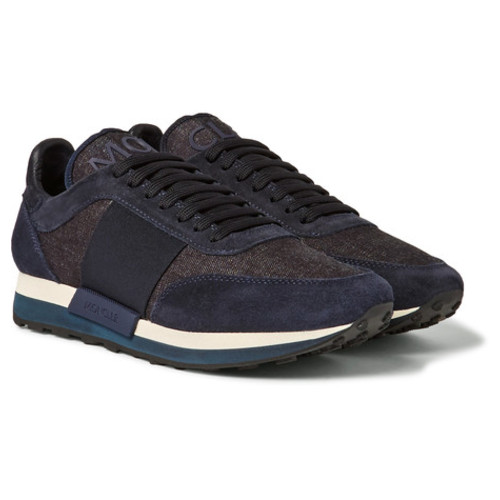 Moncler - Horace Suede and Denim Sneakers