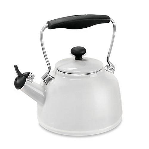 Chantal 1.7 qt. Vintage Tea Kettle in White