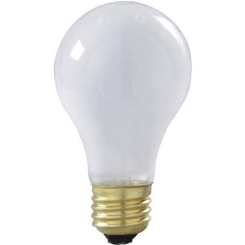 Satco A19 Incandescent Shatterproof Rough Service Light Bulb