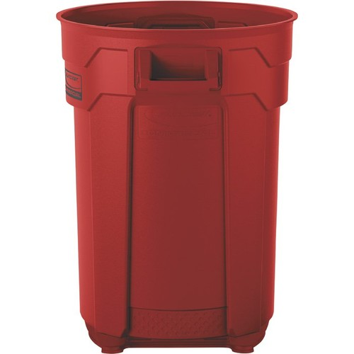 Suncast 44-Gallon Utility Trash Can  Red,