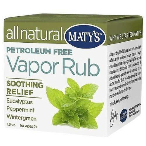 Maty's All Natural Vapor Rub Soothing Relief 1.50 oz [Pack of 1]
