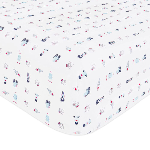 Babyletto Galaxy Fitted Mini Crib Sheet