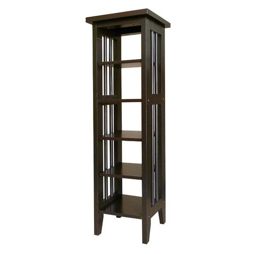 Ore 5-Shelf Media Storage Tower - Espresso
