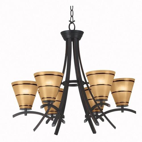 Kenroy Home Wright 6-Light Oil Rubbed Bronze Chandelier
