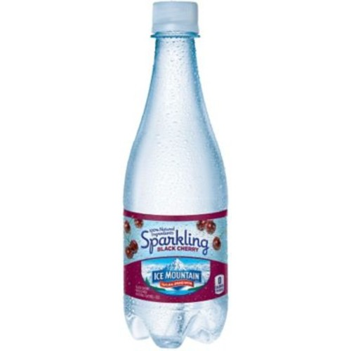 ICE MOUNTAIN Brand Sparkling Natural Spring Water, Black Cherry 16.9-ounce Plastic Bottle, 24/Case