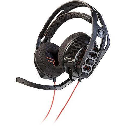 Plantronics - RIG 505 Lava Over-the-Ear Gaming Headset - Black/Orange