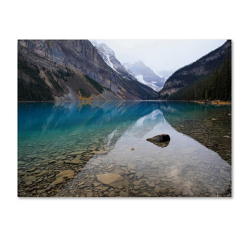 'Lake Louise' by Pierre Leclerc Framed Photographic Print on Wrapped Canvas