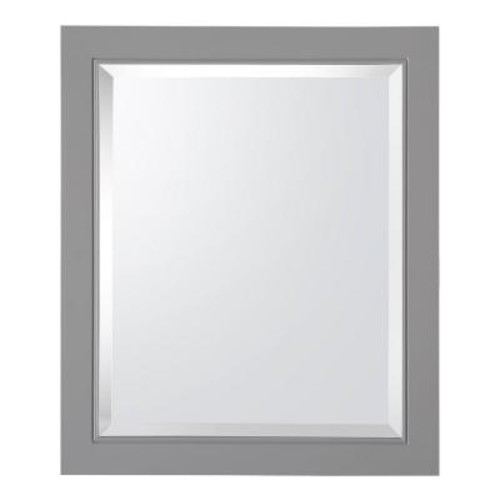 Home Decorators Collection Gazette 22 in. W x 26 in. H x 6-5/8 in. D Framed Surface-Mount Bathroom Medicine Cabinet in Grey