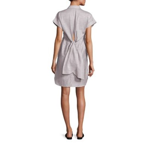 RAG & BONE Ara Textured Tie-Back Shirtdress