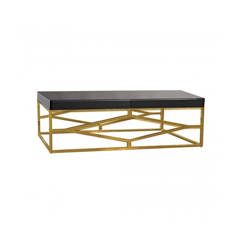 Darcine Coffee Table, Black and G