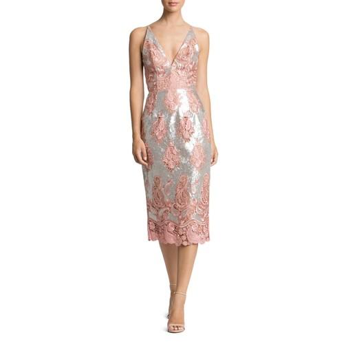 Angela Sequin & Lace Dress