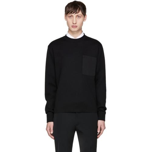 PRADA Black Nylon Pocket Pullover