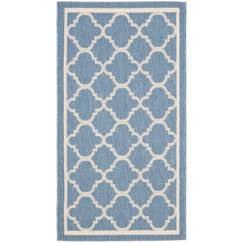 Safavieh Poolside Blue/Beige Indoor/Outdoor Polypropylene Rug - 2' x 3'7