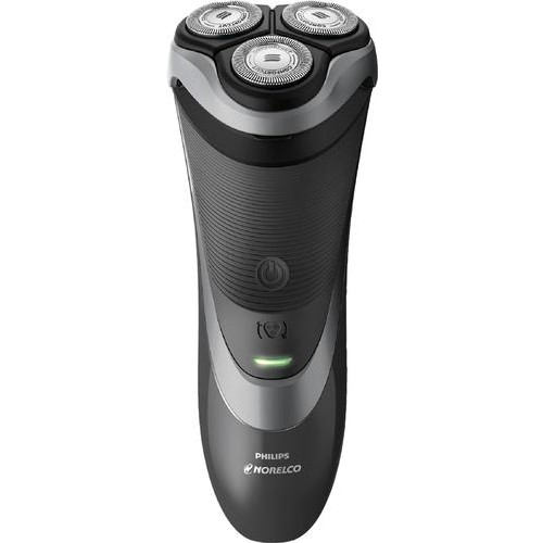 Philips Norelco - Series 3000 Wet/Dry Electric Shaver - Precision black/chrome black