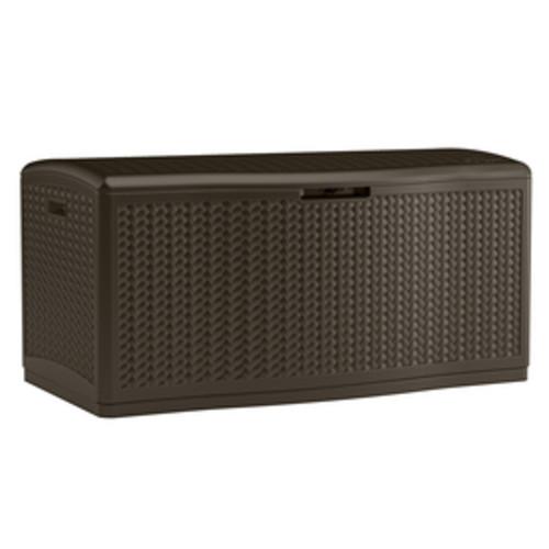 Suncast 52-in L x 29-in W 124-Gallon Java Resin Deck Box