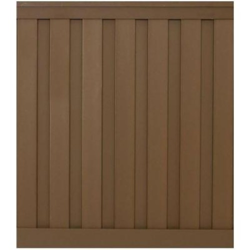 Trex Seclusions 6 ft. x 6 ft. Saddle Brown Wood-Plastic Composite Board-On-Board Privacy Fence Panel Kit