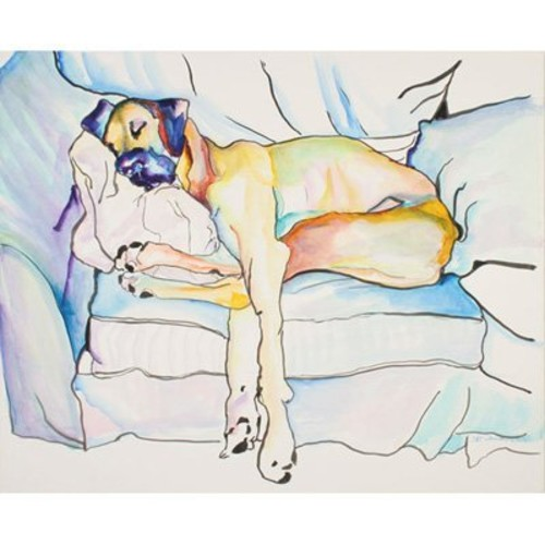 Sleeping Beauty by Pat Saunders-White, 14x19-Inch Canvas Wall Art [14 by 19-Inch]
