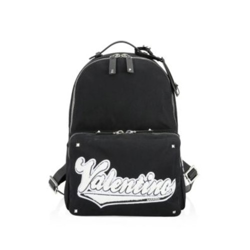 Patched Logo Canvas Backpack