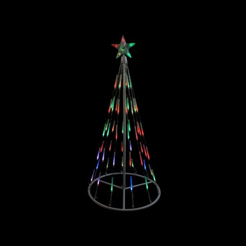 Single Tier Bubble Cone Christmas Tree Lighted Yard Art Decoration