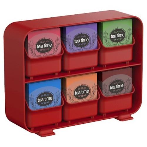 Mind Reader - Clutch 6-Drawer Tea Bag Holder - Red