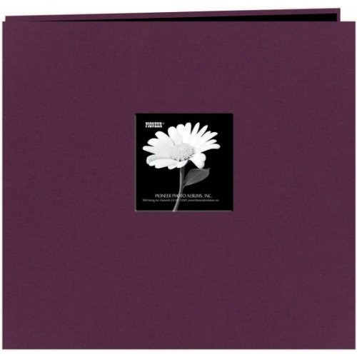 Pioneer 12-Inch by 12-Inch Fabric Frame Scrapbook, Wildberry Purple [Wildberry Purple, 12