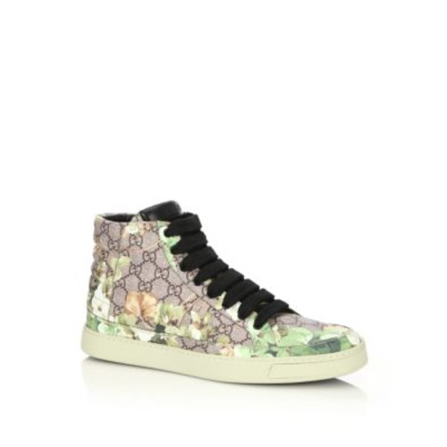 GUCCI Blooms Print High-Top Sneakers