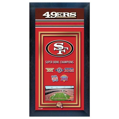 San Francisco 49ers Super Bowl Champions Framed Wall Art