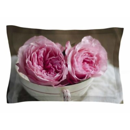 East Urban Home Cristina Mitchell 'Roses in a Tea Cup' Floral Photography Sham