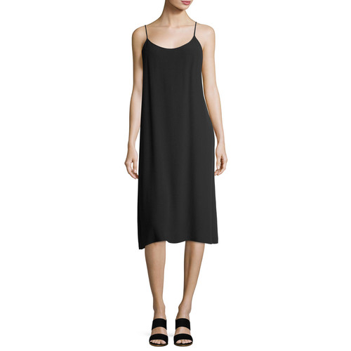 EILEEN FISHER Crinkled Crepe Camisole Dress