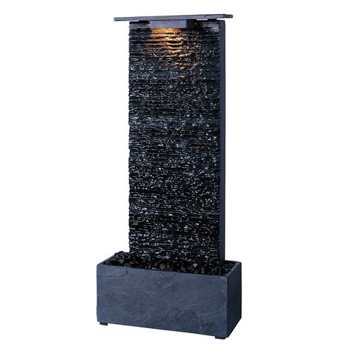 Kenroy Home #50282GYSL Bedrock Falls Indoor Table/Wall Fountain in Natural Grey Slate Finish