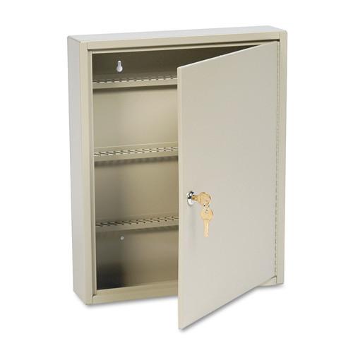MMF Industries MMF201911003 SteelMaster Uni-Tag Key Cabinet, 110-Key,Steel, Sand, 14 x 3 1/8 x 17 1/8