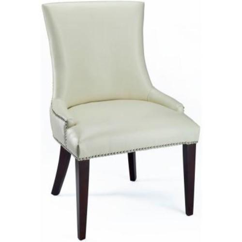 Safavieh Becca Flat Cream Leather Dining Chair