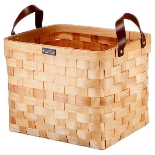 Cypress Wood Basket Medium - Natural - Smith & Hawken