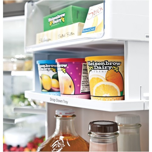 GE PROFILE SERIES ENERGY STAR 22.2 CU. FT. COUNTER-DEPTH FRENCH-DOOR REFRIGERATOR WITH KEURIG K-CUP BREWING SYSTEM
