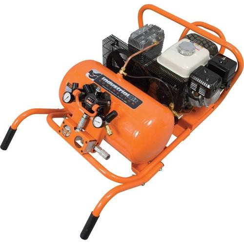 Industrial Air Gas-Powered Chopper Wheelbarrow Air Compressor  5.5 HP Honda Engine, 10-Gallon, With H4X Remote Air Hub, Model# CWA5591016.4