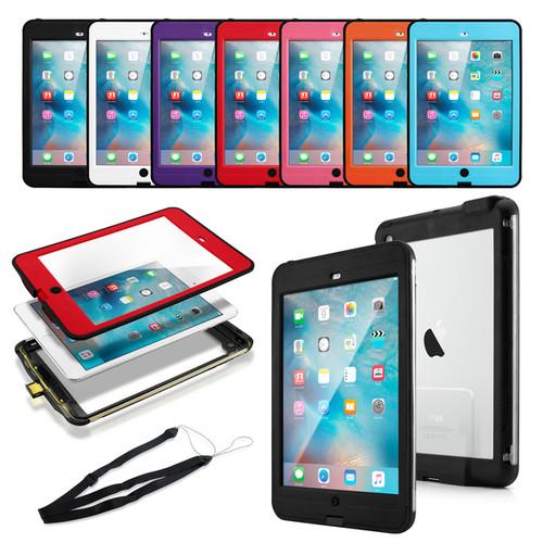 Gearonic Waterproof Snow Proof Protective Case for iPad Mini 1/2/3 [option : Black]
