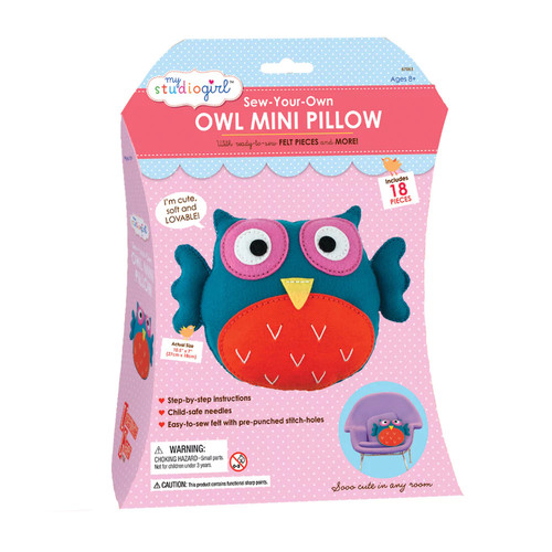 My Studio Girl Sew-Your-Own Owl Mini Pillow