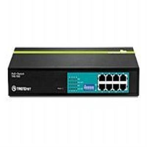 TRENDnet TPE T80 PoE+ Switch - Switch - 8 x 10/100 (PoE) - desktop, rack-mountable - PoE