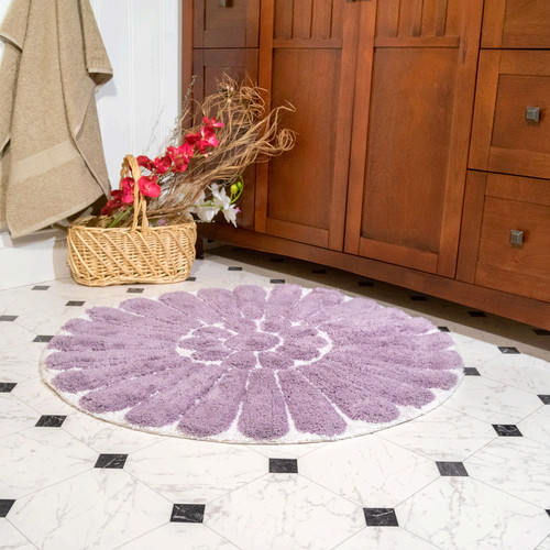 Bursting Flower 2-Piece Bath Rug Set
