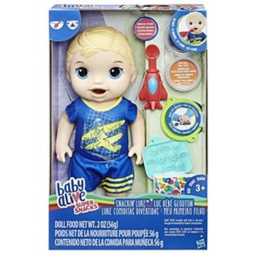 Hasbro Baby Alive Super Snacks Snackin' Luke Baby Doll - Blonde
