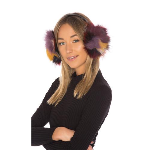 Hat Attack Luxe Earmuff With Fox Fur in Multi