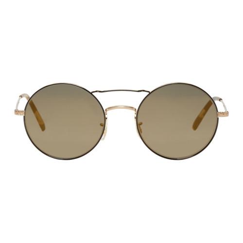 OLIVER PEOPLES Gold & Black Nickol Sunglasses