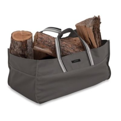 Classic Accessories Ravenna Jumbo Log Carrier in Dark Taupe