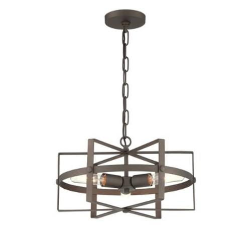 Reel 3 Light Horizontal Pendant - Rustic Bronze