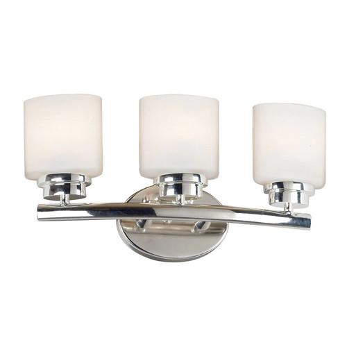 Kenroy Home Bow 3-Light Polished Nickel Vanity Light
