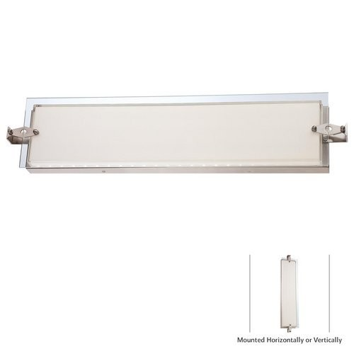 George Kovacs P1123-084-L Cuff Link Led Wall Sconce [Brushed Nickel]