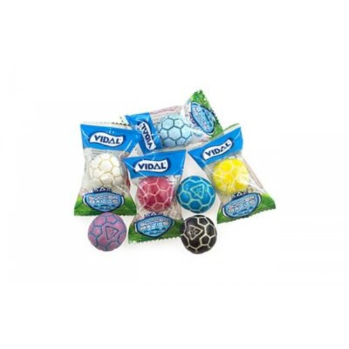 Vidal Individually Wrapped Gumballs Soccer Balls, 60 Count (1140212)